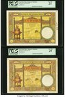 French Indochina Banque de l'Indo-Chine 100 Piastres ND (1925-26; 1927-31; 1932-35) Picks 51a; 51b; 51c Three Examples PCGS Very Fine 25 (2); Very Fin...