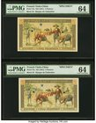 French Indochina Banque de l'Indo-Chine 5 Piastres ND (1951) Pick 75s Two Specimens PMG Choice Uncirculated 64 (2). This design has always proved chal...