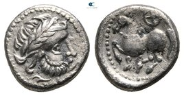"Eastern Europe. Imitation of Philip II of Macedon circa 300-100 BC. ""Dachreiter"" type. Drachm AR"
