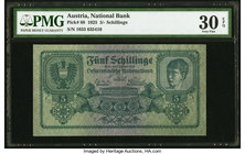 Austria Austrian National Bank 5 Schilling 2.1.1925 Pick 88 PMG Very Fine 30 EPQ.   HID09801242017
