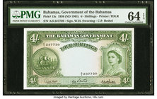 Bahamas Bahamas Government 4 Shillings 1936 (ND 1961) Pick 13c PMG Choice Uncirculated 64 EPQ.   HID09801242017