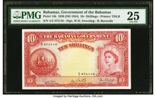 Bahamas Bahamas Government 10 Shillings 1936 (ND 1954) Pick 14b PMG Very Fine 25.   HID09801242017