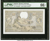Belgium Banque Nationale de Belgique 100 Francs-20 Belgas 25.5.1943 Pick 107 PMG Gem Uncirculated 66 EPQ.   HID09801242017