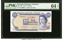 Bermuda Monetary Authority 10 Dollars 2.1.1982 Pick 30b PMG Choice Uncirculated 64 EPQ.   HID09801242017