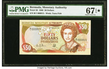 Bermuda Monetary Authority 50 Dollars 20.1.1989 Pick 38 PMG Superb Gem Unc 67 EPQ S.   HID09801242017