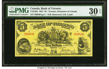 Canada Toronto, ON- Bank of Toronto $5 2.1.1937 Ch.# 715-24-04 PMG Very Fine 30 EPQ.   HID09801242017