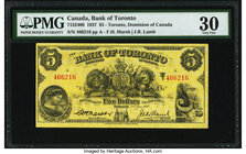 Canada Toronto, ON- Dominion of Canada $5 2.1.1937 Ch.# 715-24-06 PMG Very Fine 30.   HID09801242017