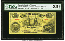Canada Toronto, ON- Bank of Toronto $10 2.1.1937 Ch.# 715-24-10 PMG Very Fine 30 EPQ.   HID09801242017