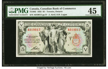 Canada Toronto, ON- Bank of Commerce $5 2.1.1935 Ch.# 75-18-02 PMG Choice Extremely Fine 45.   HID09801242017