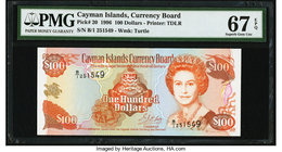 Cayman Islands Currency Board 100 Dollars 1996 Pick 20 PMG Superb Gem Unc 67 EPQ.   HID09801242017