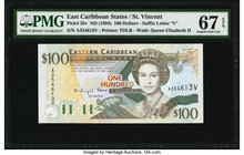 East Caribbean States Central Bank, St. Vincent 100 Dollars ND (1994) Pick 35v PMG Superb Gem Unc 67 EPQ.   HID09801242017