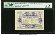 French Somaliland Chambre de Commerce 50 Centimes 30.11.1919 Pick 23 PMG Choice Very Fine 35.   HID09801242017