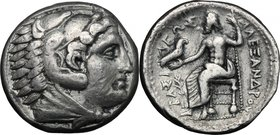 Celtic World. Celts in Eastern Europe. AR Tetradrachm in the name in the types of Alexander III of Macedon, c. 150-50 BC. D/ Head of Herakles right. R...