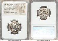 MACEDONIAN KINGDOM. Alexander III the Great (336-323 BC). AR tetradrachm (25mm, 17.21 gm, 4h). NGC Choice XF 5/5 - 5/5. Early posthumous issue of 'Amp...