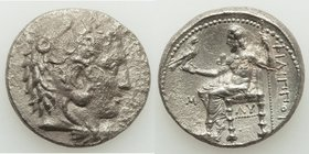 MACEDONIAN KINGDOM. Philip III Arrhidaeus (323-317 BC). AR tetradrachm (26mm, 16.58 gm, 12h). Choice VF, porosity. Babylon. Head of Heracles right, we...