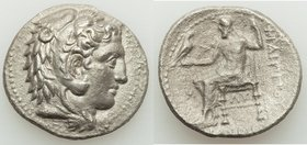 MACEDONIAN KINGDOM. Philip III Arrhidaeus (323-317 BC). AR tetradrachm (27mm, 15.71 gm, 5h). XF, porosity. Babylon. Head of Heracles right, wearing li...