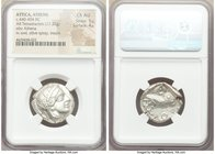 ATTICA. Athens. Ca. 440-404 BC. AR tetradrachm (24mm, 17.22 gm, 1h). NGC Choice AU 5/5 - 4/5. Mid-mass coinage issue. Head of Athena right, wearing cr...