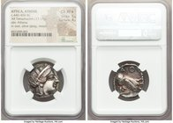 ATTICA. Athens. Ca. 440-404 BC. AR tetradrachm (24mm, 17.17 gm, 9h). NGC Choice XF S 5/5 - 4/5. Mid-mass coinage issue. Head of Athena right, wearing ...