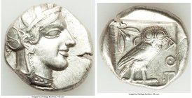 ATTICA. Athens. Ca. 440-404 BC. AR tetradrachm (26mm, 17.14 gm, 10h). VF. Mid-mass coinage issue. Head of Athena right, wearing crested Attic helmet o...