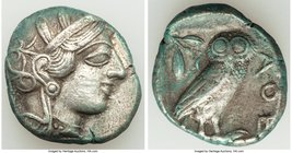 ATTICA. Athens. Ca. 440-404 BC. AR tetradrachm (26mm, 16.85 gm, 9h). VF. Mid-mass coinage issue. Head of Athena right, wearing crested Attic helmet or...