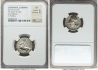 CORINTHIA. Corinth. Ca. 4th century BC. AR stater (21mm, 8.23 gm, 6h). NGC XF 4/5 - 4/5. Ca. 375-300 BC. Pegasus flying left, Ϙ below / Head of Athena...
