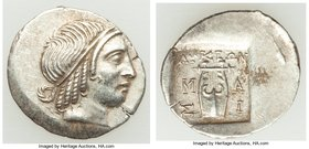 LYCIAN LEAGUE. Masicytes. Ca. 48-20 BC. AR hemidrachm (16mm, 1.61 gm, 11h). Choice XF. Series 4. Head of Apollo right, wearing taenia / ΛΥΚΙΩΝ, cithar...