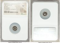 PAMPHYLIA. Aspendus. Ca. 4th century BC. AR obol (10mm, 4h). NGC XF. Head of gorgoneion facing with protruding tongue / Head of Athena right, wearing ...
