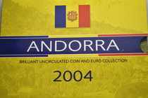 Andorra.  AD 2004. Mint set. 2 Euro and 25 Centims