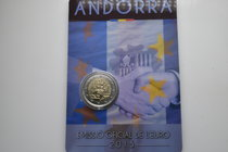 Andorra.  AD 2015. 25 years customs union with EU. 2 Euro