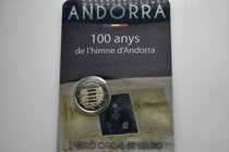 Andorra.  AD 2017. 100 years anthem of Andorra. 2 Euro