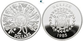 Belize.  AD 1985-1985. Decade for Women. 20 Dollars