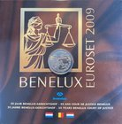 BeNeLux.  AD 2009. 3 Mint sets. 11,64 Euro