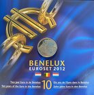 BeNeLux.  AD 2012. 3 Mint sets. 11,64 Euro