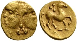 CELTIC, Central Europe. Vindelici. Late 3rd or very early 2nd century BC. 1/24 Stater (Gold, 7 mm, 0.34 g, 7 h), 'Januskopf I' type. Head of Janus wit...