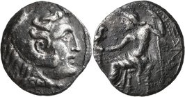 CELTIC, Lower Danube. Uncertain tribe. 3rd to 2nd centuries BC. Tetradrachm (Silver, 25 mm, 14.84 g, 12 h). Head of Herakles to right, wearing lion sk...