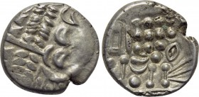 BRITAIN. Durotriges. Uninscribed. Stater (Circa 65 BC-45 AD). Durotrigan E, Abstract (Cranborne Chase) type.