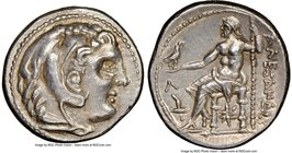 MACEDONIAN KINGDOM. Alexander III the Great (336-323 BC). AR tetradrachm (27mm, 17.21 gm, 10h). NGC AU 5/5 - 4/5. Posthumous issue of Amphipolis, unde...
