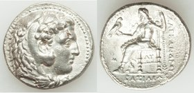 MACEDONIAN KINGDOM. Alexander III the Great (336-323 BC). AR tetradrachm (26mm, 16.86 gm, 2h). XF, porosity. Early posthumous issue of 'Babylon', ca. ...