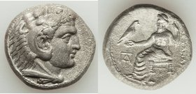 MACEDONIAN KINGDOM. Alexander III the Great (336-323 BC). AR tetradrachm (25mm, 16.65 gm, 6h). AU, porosity. Lifetime or early posthumous issue of Pap...