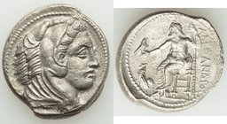 MACEDONIAN KINGDOM. Alexander III the Great (336-323 BC). AR tetradrachm (27mm, 16.74 gm, 4h). XF, porosity. Lifetime issue of 'Amphipolis', ca. 325-3...