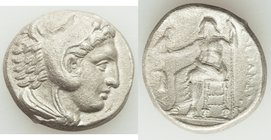 MACEDONIAN KINGDOM. Alexander III the Great (336-323 BC). AR tetradrachm (25mm, 16.40 gm, 4h). VF, porosity. Lifetime issue of 'Amphipolis', under Ant...