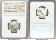 ATTICA. Athens. Ca. 440-404 BC. AR tetradrachm (24mm, 17.21 gm, 3h). NGC AU 5/5 - 5/5. Mid-mass coinage issue. Head of Athena right, wearing crested A...