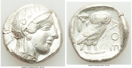 ATTICA. Athens. Ca. 440-404 BC. AR tetradrachm (24mm, 17.15 gm, 1h). Choice VF. Mid-mass coinage issue. Head of Athena right, wearing crested Attic he...