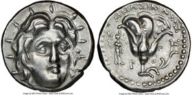 CARIAN ISLANDS. Rhodes. Ca. 250-205 BC. AR didrachm (19mm, 12h). NGC Choice XF. Ca. 250-230 BC, Mnasimaxus, magistrate. Radiate head of Helios facing,...