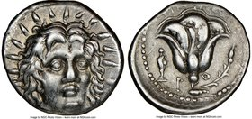 CARIAN ISLANDS. Rhodes. Ca. 250-200 BC. AR didrachm (20mm, 12h). NGC Choice VF. Timotheus, magistrate. Radiate head of Helios facing, turned slightly ...