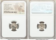 LYCIAN LEAGUE. Cragus. Ca. 48-20 BC. AR hemidrachm (15mm, 12h). NGC AU. Series 1. Laureate head of Apollo right; Λ-Y below / K-P, cithara (lyre); all ...