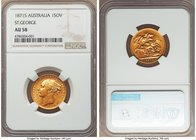 "Victoria gold ""St. George"" Sovereign 1871-S AU58 NGC, Sydney mint, KM7, S-3858A. Small ""BP"" variety. A strong representative of this very scarce date,..."