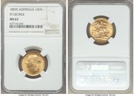 "Victoria gold ""St. George"" Sovereign 1883-S MS62 NGC, Sydney mint, KM7. A very scarce date in the series, particularly in near-choice Mint State. Thor..."