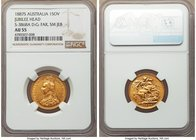 "Victoria gold ""Jubilee"" Sovereign 1887-S AU55 NGC, Sydney mint, KM6, S-3868A. D : G : far, small spread JEB. A scarcer type, very strong for the grade..."