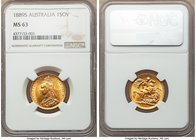 Victoria gold Sovereign 1889-S MS63 NGC, Sydney mint, KM10. D : G : close. Exhibiting even brighter luster than is usual for this routinely lustrous t...